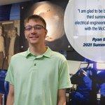 Image for the Tweet beginning: Summer #intern Ryan Brechbiel must