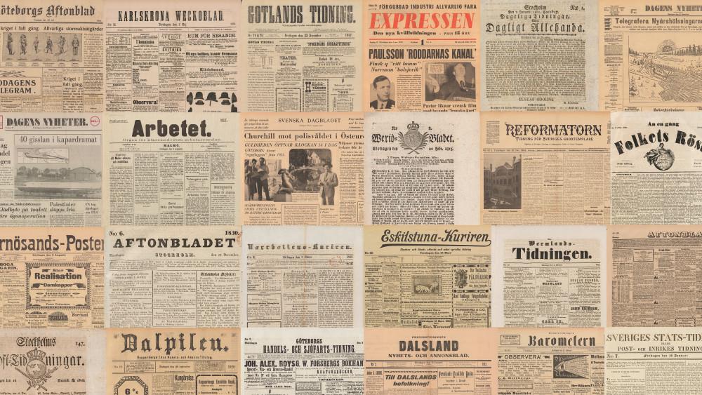 Just nu fylls KB:s söktjänst Svenska dagstidningar på med miljontals nya sidor. Under 2023 kommer samtliga tidningar från 1645–1906 finnas fritt tillgängliga för alla, tack vare ett bidrag från Arcadia. #bibliotek #historia https://t.co/k9mYFFjFUr https://t.co/btfbxwSclQ