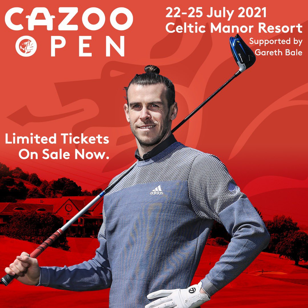 Proud to be supporting the @CazooOpen this July 🏴  Looking forward to welcoming the fans to Celtic Manor! Limited tickets available now: