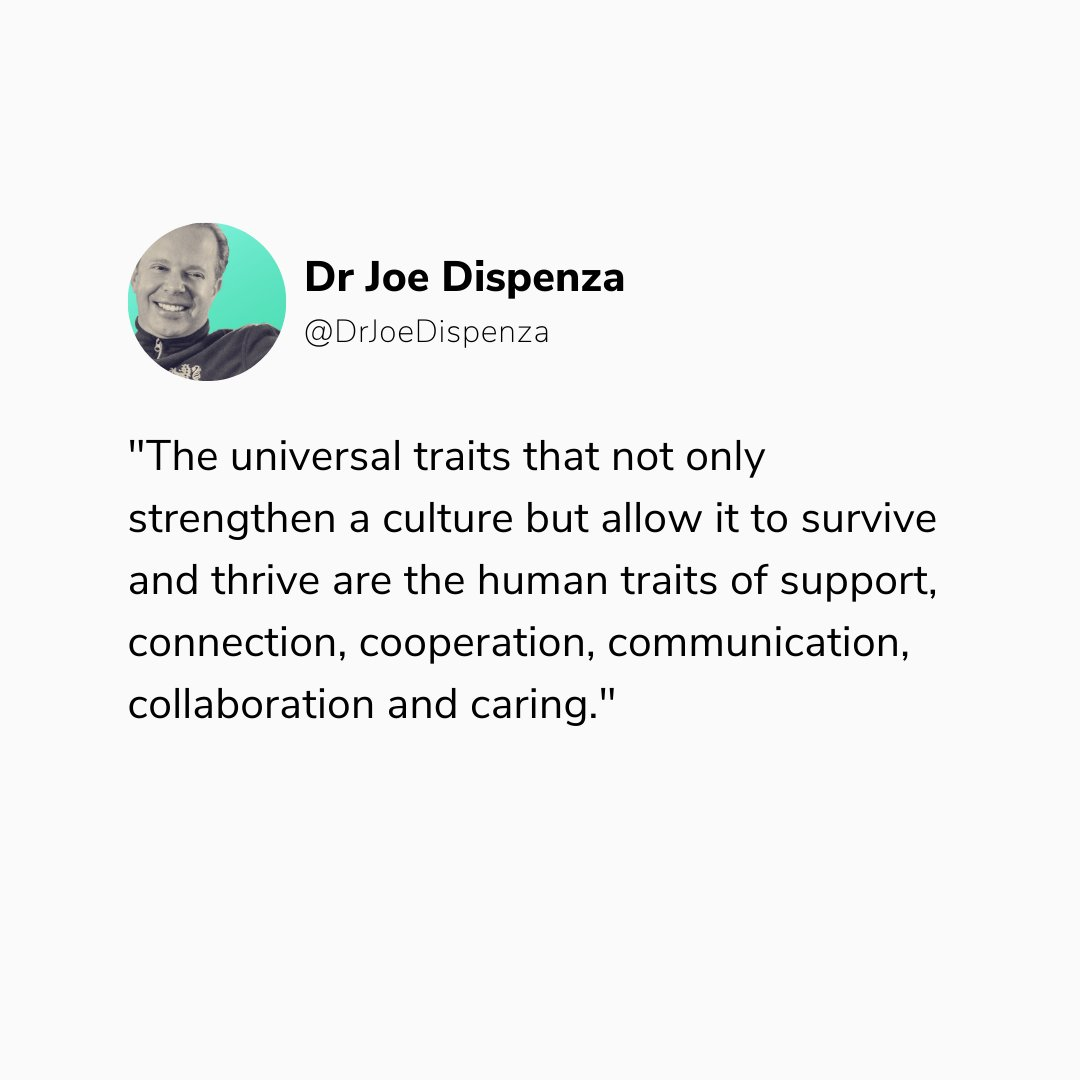 The commonalties these traits share are that they all involve reaching out to others, which takes attention off ourselves. As the new sciences tell us, it's not about survival of the fittest, but survival of the community. How are you connecting with your community? Comment below https://t.co/2hB5EHGzCK