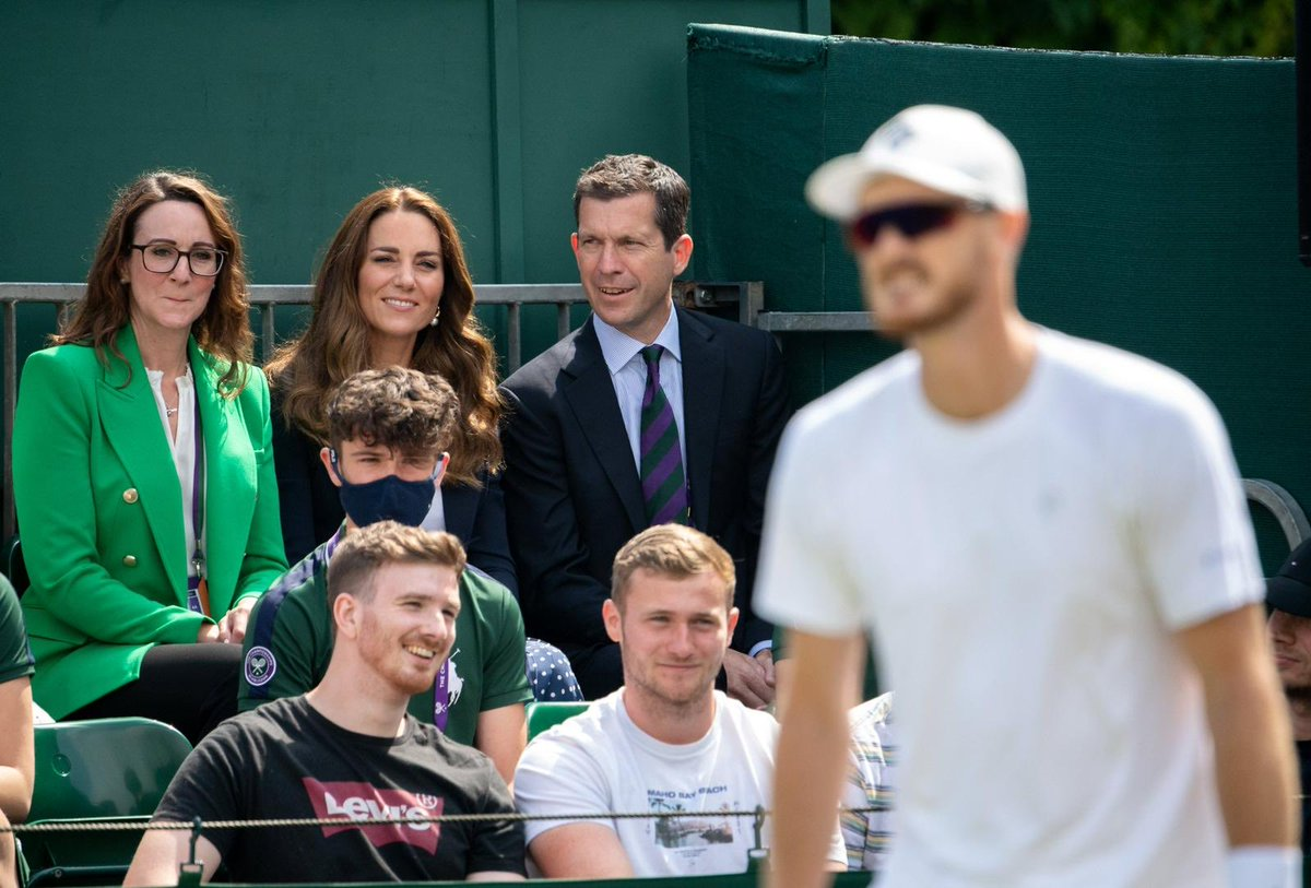 Look who was watching @jamie_murray @BrunoSoares82 on court 14 @wimbledon this morning……. 👑