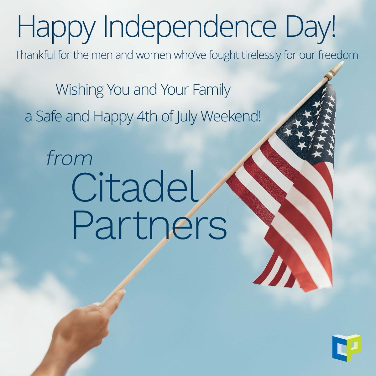 test Twitter Media - Wishing You and Your Family a Safe and Happy 4th of July Weekend!  #CitadelPartners #dallascommercialrealestate #thankyouforyourservice #4thofjuly2021 #americanflag #godblessamerica https://t.co/FPveQkRx8o