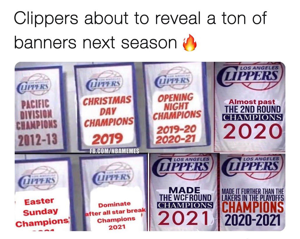 Can't wait for the Clippers opening Nite banners unveiling. 🤣🤣🤣🤣🤣🤣🤦🏾♂️ https://t.co/UqAk5z4WdQ