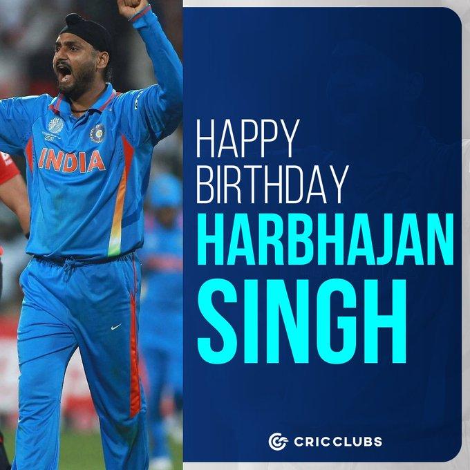 Wishing Harbhajan Singh a very happy birthday.