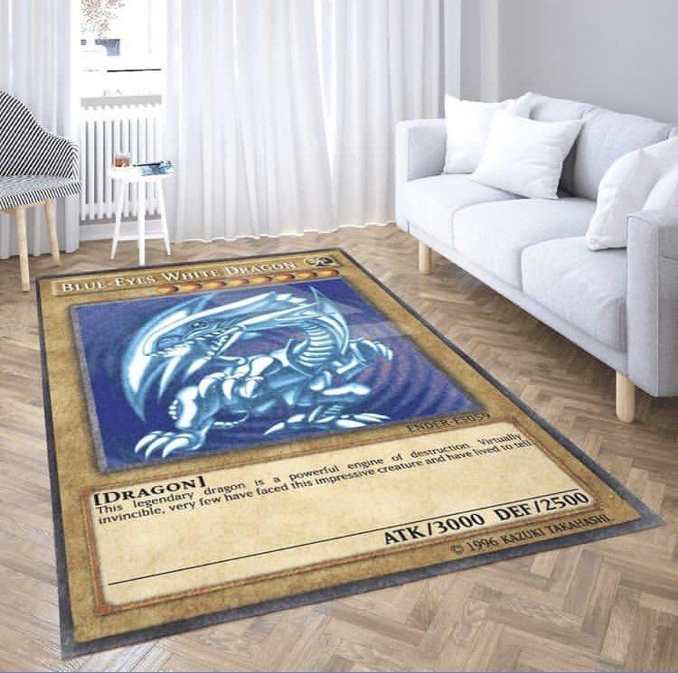 遊戯王好きならあり?ブルーアイズホワイトドラゴンのカーペット!