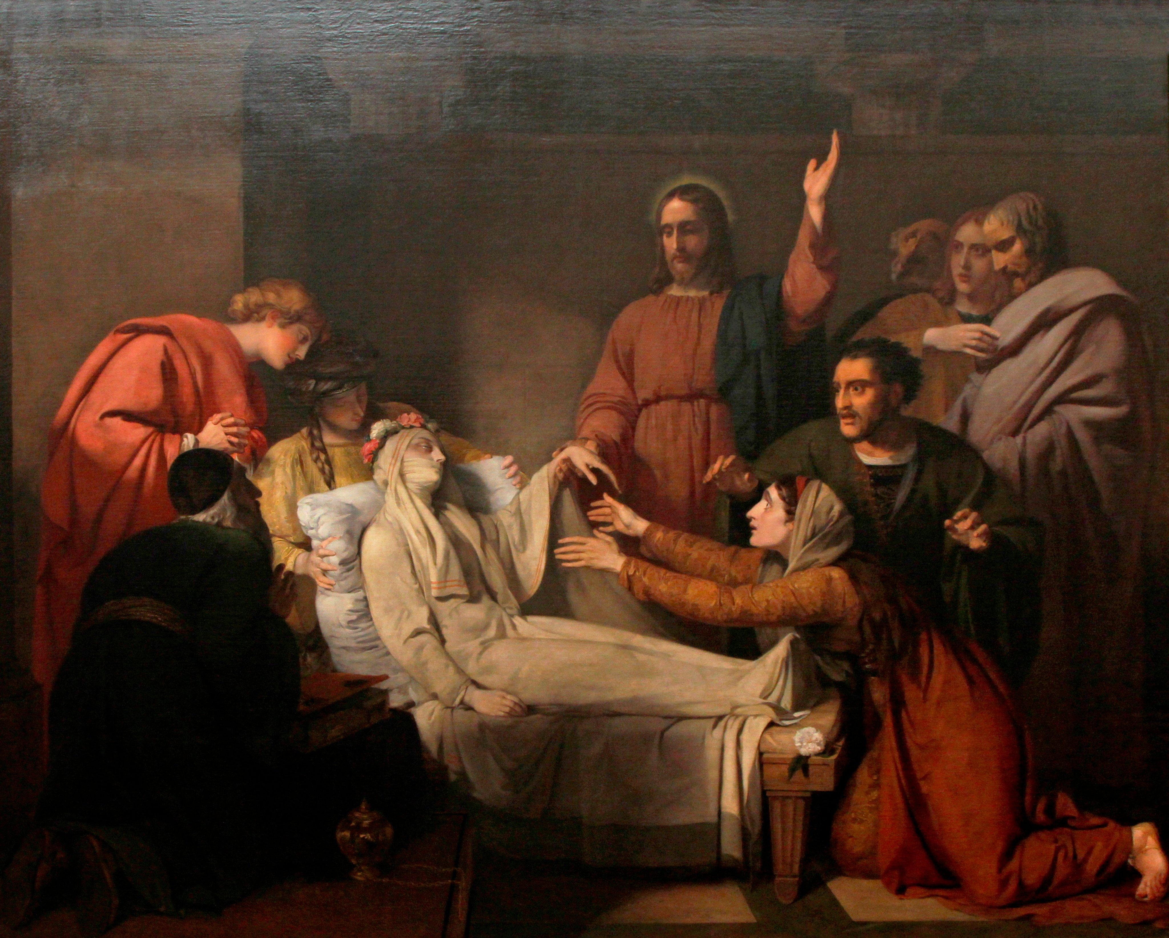 Jesus Cristo ressuscita a filha de Jairo