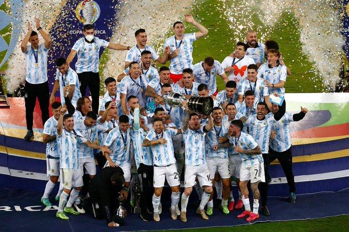अर्जेंटीना ने कोपा अमेरिका फुटबॉल टूर्नामेंट जीता