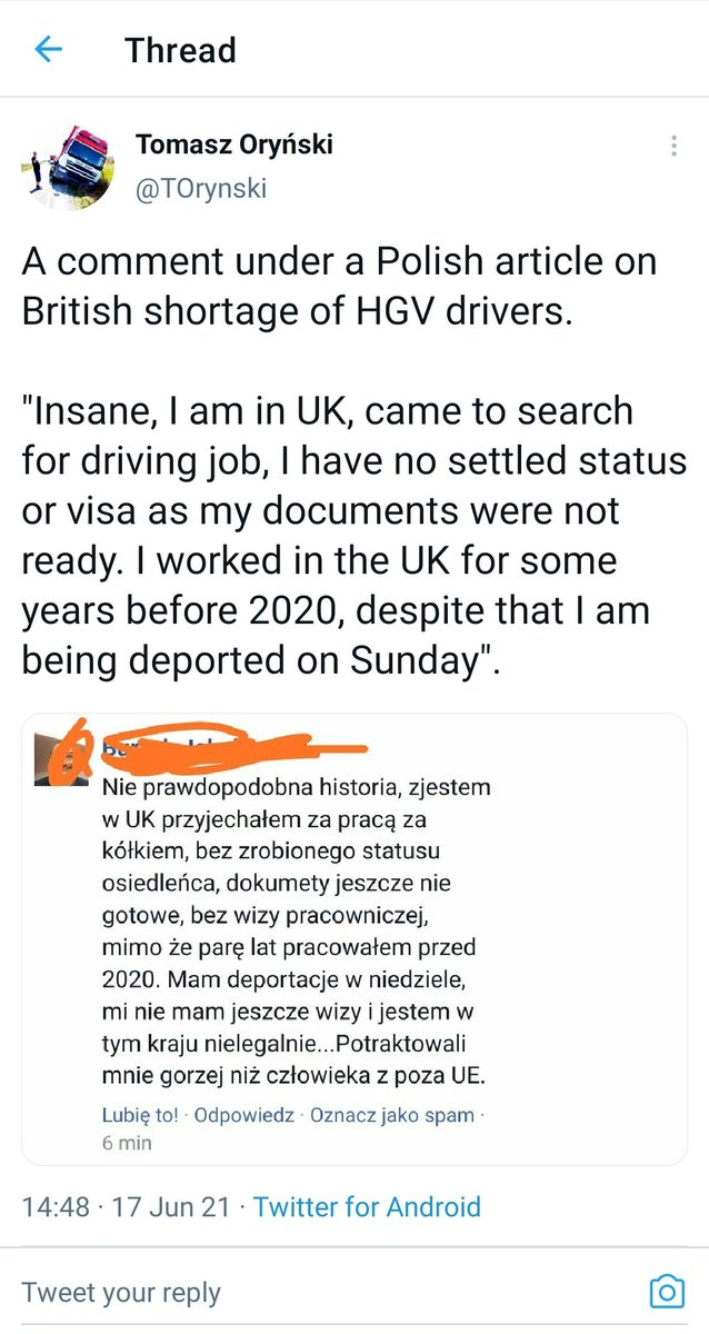 #HGV driver to be deported today Its not like we have a shortage of them!  So important to maintain that #hostileenvironment not.. #Brexitshambles