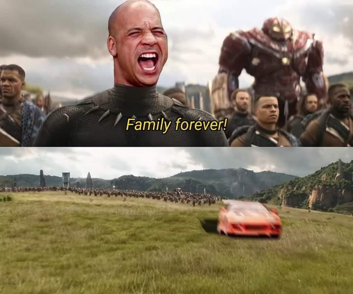 toretto la familia family fast and furious meme