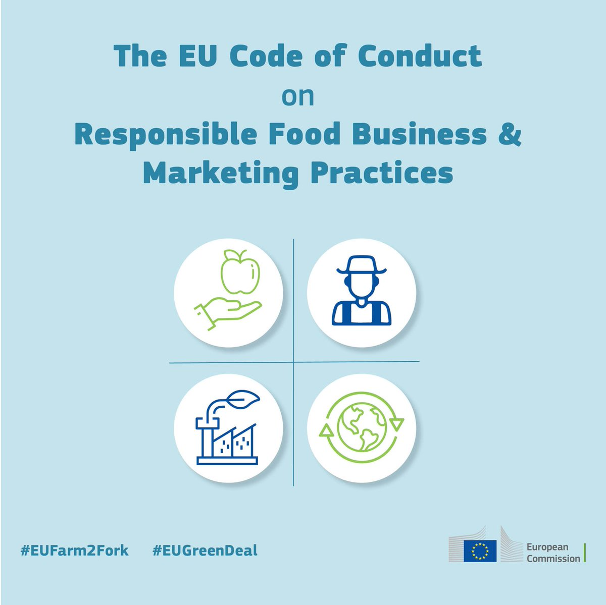 We are proud to be signatories to the EU Code of Conduct on Responsible Food Business and Marketing Practices and contribute to the aspirations in this Code in support of the path towards sustainable food systems.  #EUFarm2Fork #EUGreenDeal https://t.co/6FvUZ38lh7 https://t.co/sO4DxMjPPm
