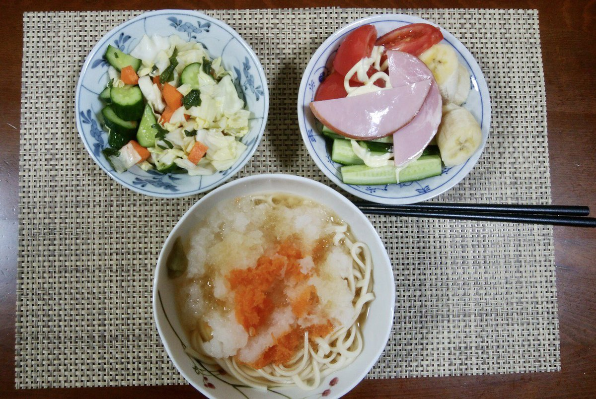 なんかノリノリの父。母が3週間家にいないという初の事態に父70代が毎日作ったご飯が可愛い。