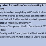 Image for the Tweet beginning: #InfectionPrevention practitioners & #WASH focal