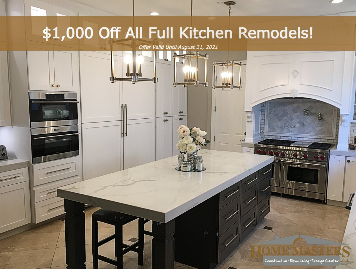 Home Masters Intl On Twitter Homemastersint We Re Offering A New Special Get 1000 Off Any Full Kitchen Remodel Now Through August 31 Free Consultations With 3d Designs Included Financing Available Kitchenremodel Customkitchen