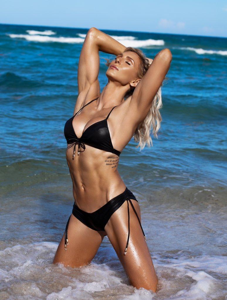 "WWE Star Charlotte Flair Posts ""Confidence Is Sexy"" Bikini Photo 62"