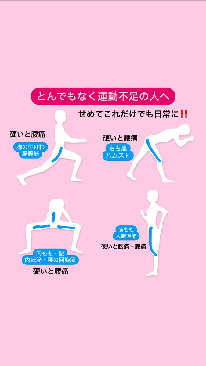 とんでもなく運動不足の人へ!せめてこれらのストレッチは日常的にやっておこう!