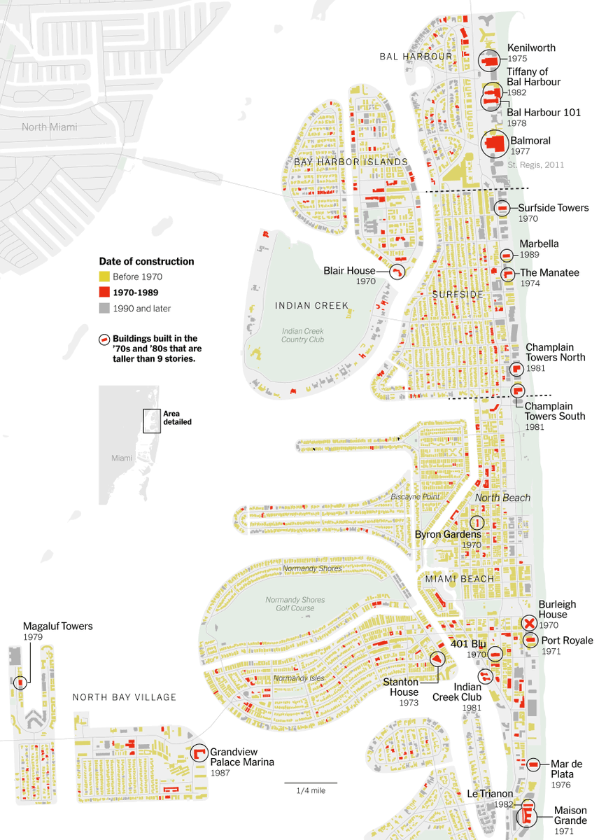 Everyone's worried about 70s and 80s condos in South Florida, so I made some big detailed building age maps for this great story with @laforgia_ & @adamplayford  => https://t.co/bSXdZJDqm5 https://t.co/Aev5aAFWU5