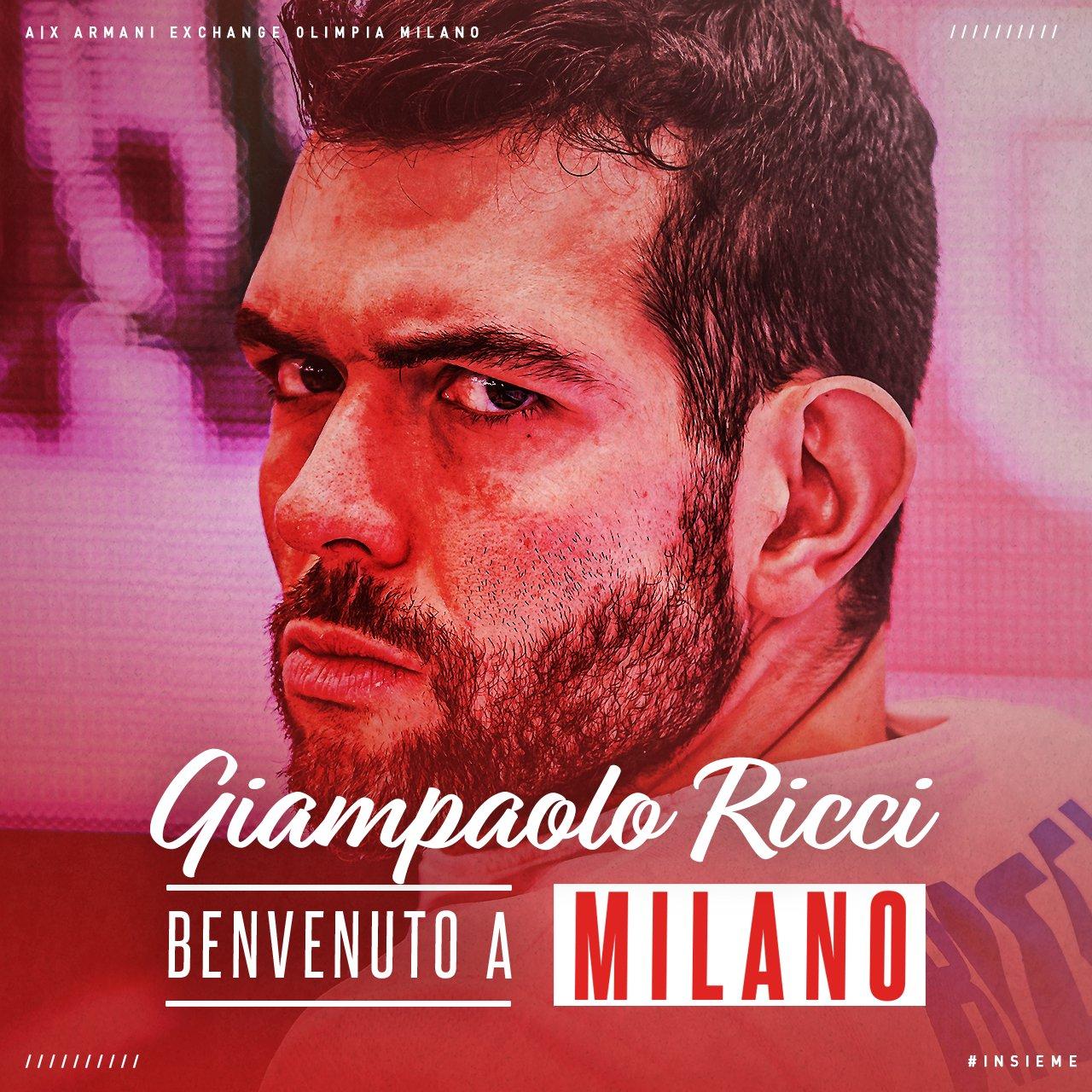 Olimpia Milano: ufficiale il biennale per Giampaolo Ricci