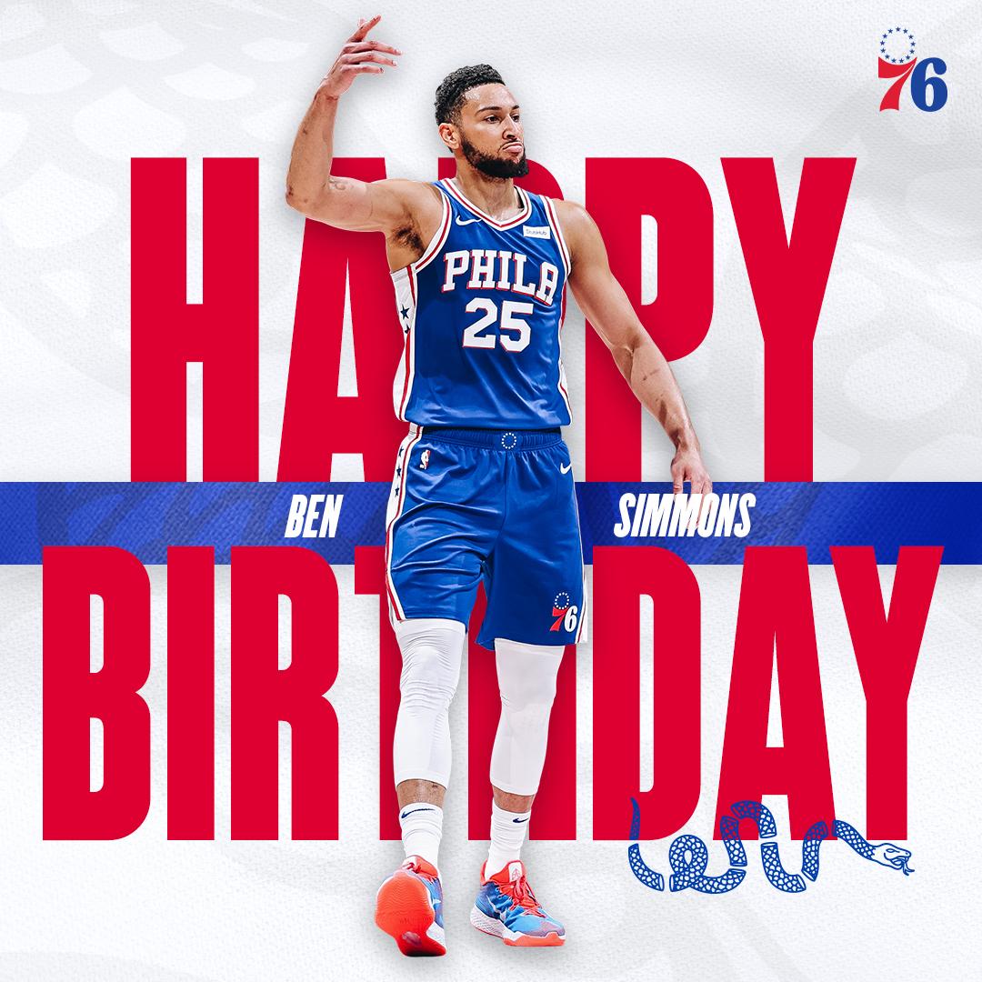 wishing @BenSimmons25 a happy birthday 😤 https://t.co/zRkOKVEJ7u