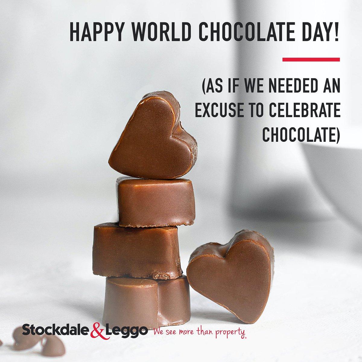 Happy #WorldChocolateDay - as if we needed an excuse to celebrate chocolate!  #StockdaleLeggo #ChocolateDay https://t.co/v2zdrt1uv5