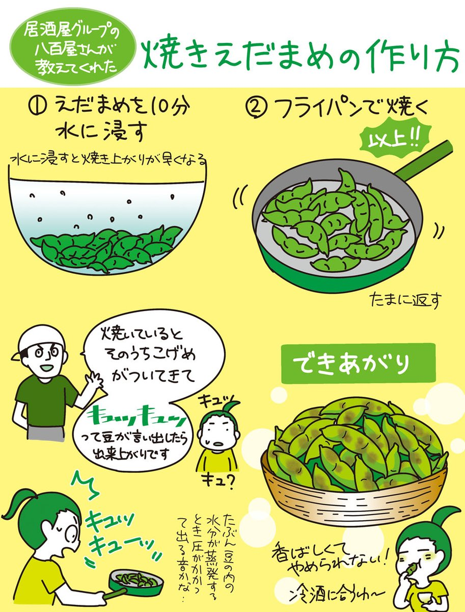 枝豆の季節がやってきた!美味しすぎる焼き枝豆のレシピがこちら!