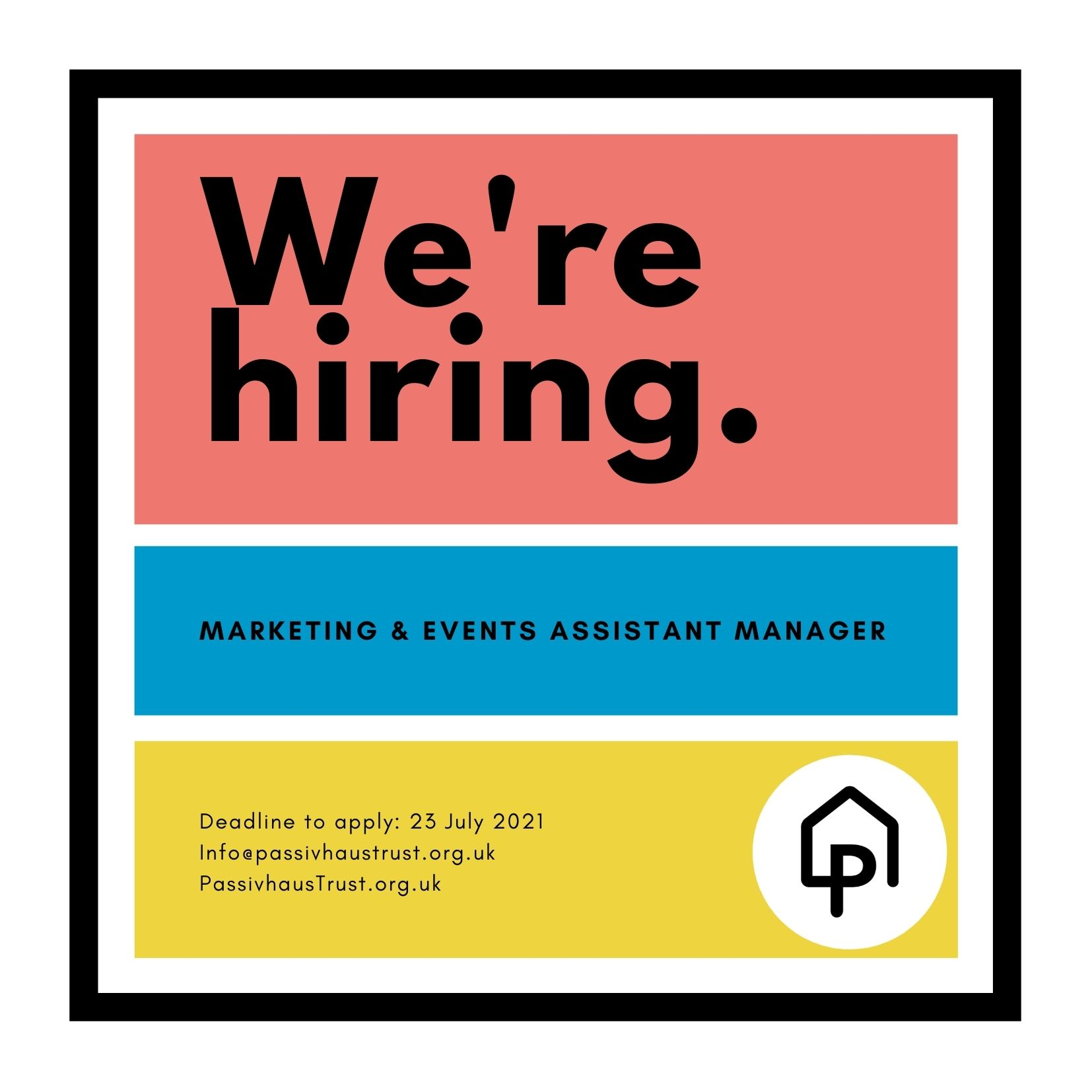 We are hiring! Marketing & Events Assistant Manager