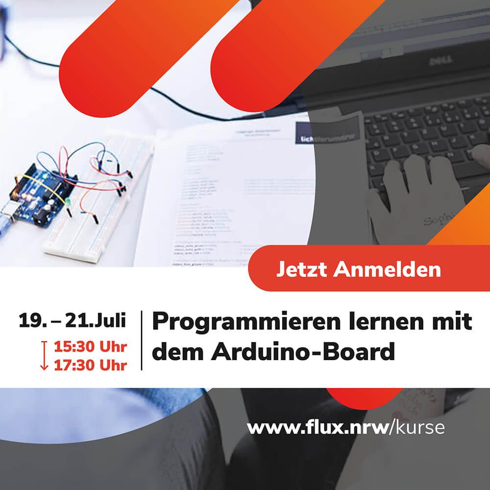 """#Programmieren lernen mit dem #Arduino Board 💻 Kostenfreier Kurs für #Schülerinnen und #Schüler vom 19.-21.07.2021. Jetzt anmelden: <a href=\""""https://t.co/aiXv1vMtok\"""" class=\""""link-tweet\"""" target=\""""_blank\"""">https://t.co/aiXv1vMtok</a> #Ferienkurs #MINT #Schülerlabor #Sommerferien #Schule #FLUX #LichtforumNRW #coding <a href=\""""https://t.co/HLSLiF3d5X\"""" class=\""""link-tweet\"""" target=\""""_blank\"""">https://t.co/HLSLiF3d5X</a>"""