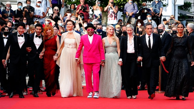 Festival de Cannes' feature jury at the opening ceremony