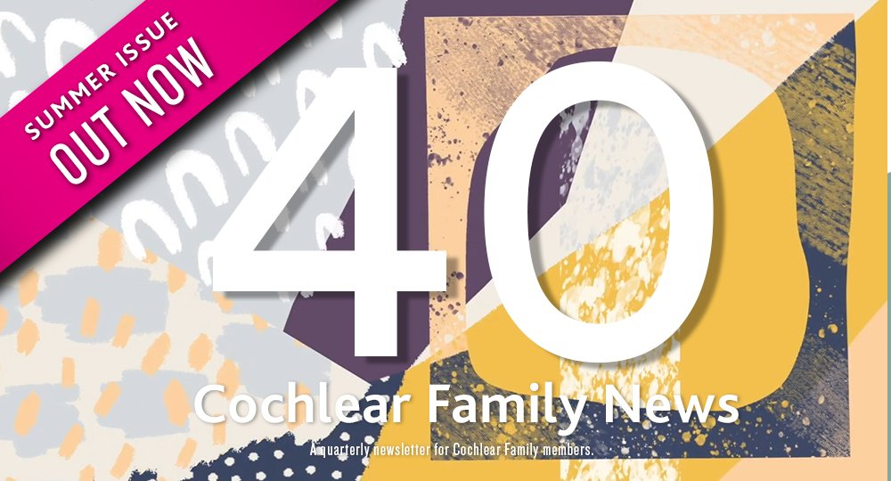 The Summer edition of Cochlear Family News is out! Join Cochlear Family, become a member of a vibrant community and experience the benefits! Register now in your country: https://t.co/sQVKUCcqUx https://t.co/Y7lZHr9kiF