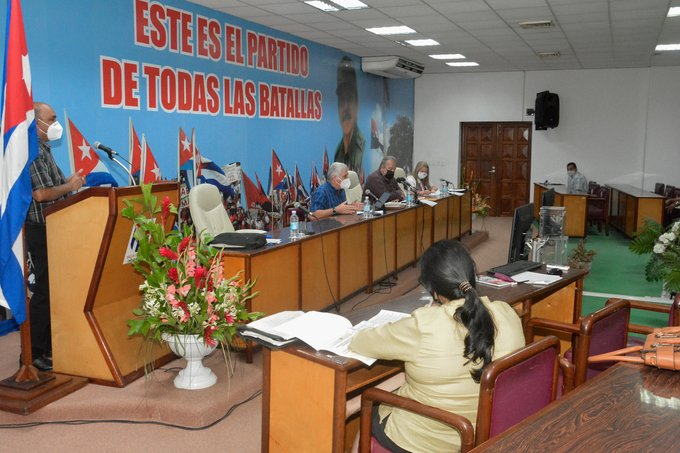 Evalúan Díaz-Canel y Marrero situación epidemiológica en Villa Clara, Sancti Spíritus y Cienfuegos (+ Fotos)