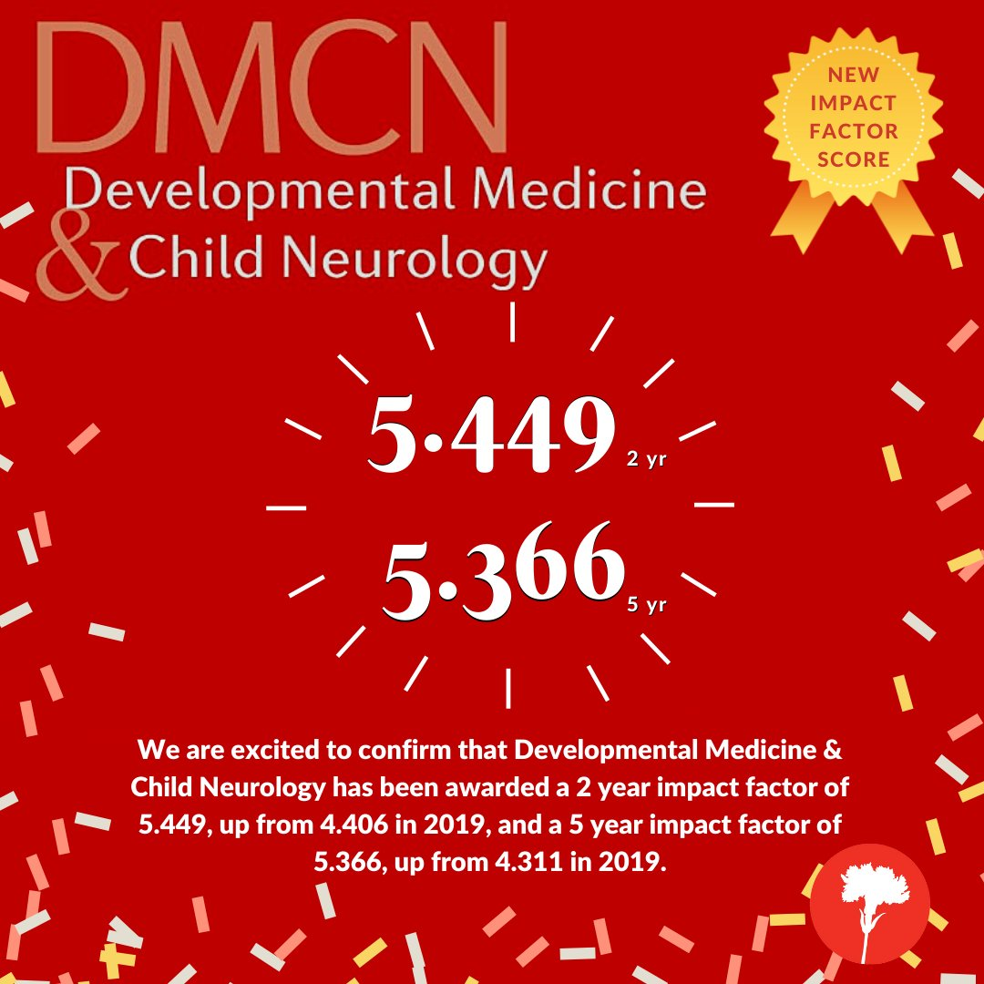 Congratulations to the @mackeithpress journal Developmental Medicine & Child Neurology for its new Impact factor. Deserving recognition for @ProfBernardDan and the hard-working team at DMCN