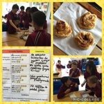 The children made palmeritas de hojaldre in Spanish today. They also tasted some tapas and gave their opinions. ? #newmalden #prepschool #learning