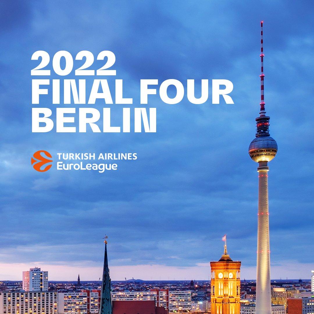 EuroLeague, le Final Four 2022 si terranno a Berlino