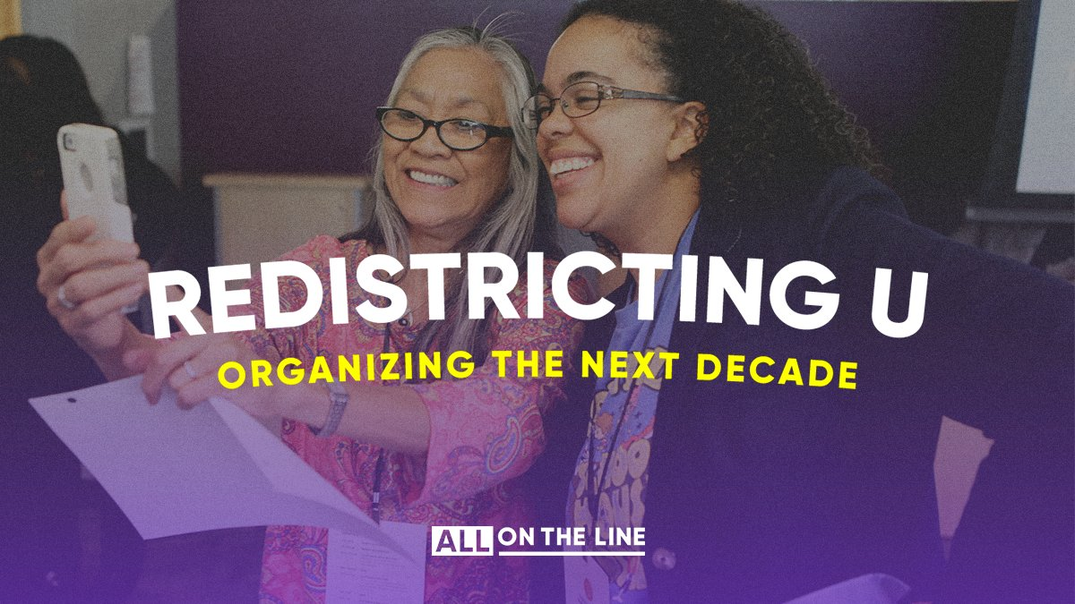 If you want to make sure that insiders can't drown out the voices of ordinary folks, I hope you'll check out @AllOnTheLine's Redistricting U. It's a training designed to help you engage with the map-drawing process in your state. Sign up today: https://t.co/oNdPIERjYU https://t.co/MXaxr8qg4V