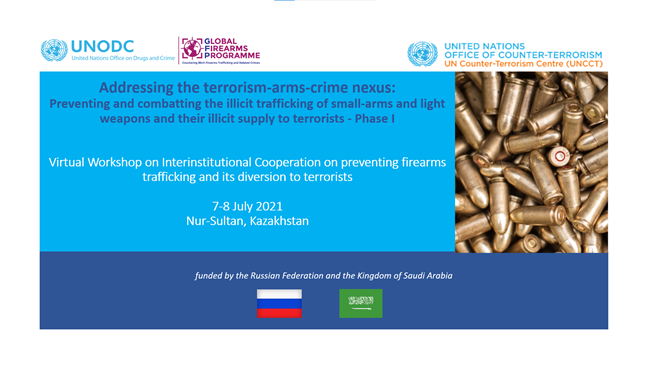 Completion of the @UNODC_Firearms & @UN_OCT 2-days Interinstitutional workshop for Kazakhstan nat. authorities to support implementation of #UNSCR2370 on preventing terrorists from acquiring weapons incl. #SALW-stronger institutional cooperation, stronger response. Thanks to 🇷🇺🇸🇦 https://t.co/9VqYMCliei