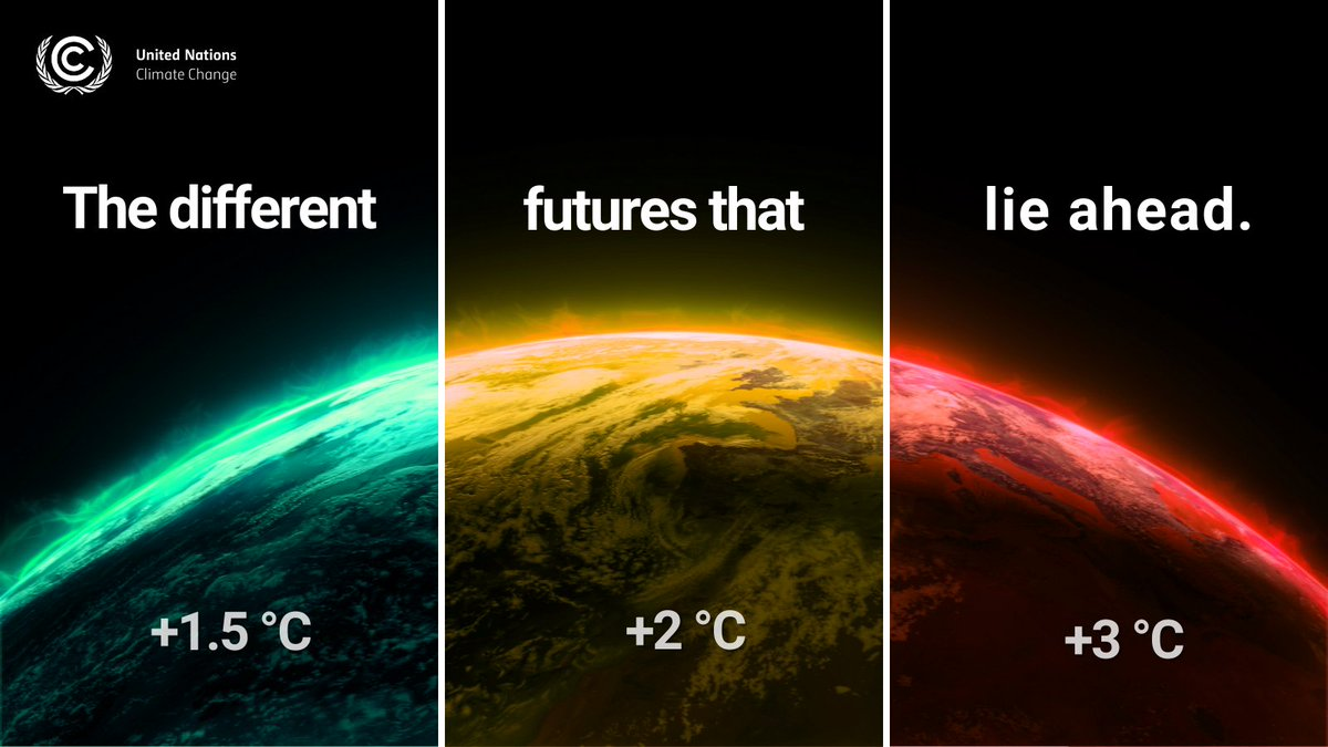 The difference between 1.5°C, 2°C or 3-4°C average global warming can sound marginal.   In fact, they represent vastly different scenarios for the future of humanity.   (Thread 1/5)   #ClimateEmergency https://t.co/glMo7pbSoo