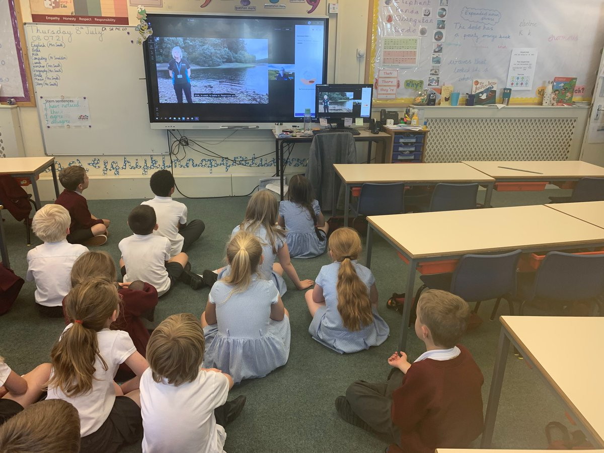 Year 2 had a live assembly with Yorkshire Water last week where they learnt all about water safety! 🦺💧 @YorkshireWater