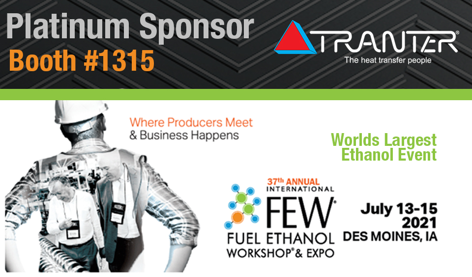Join us next week at the FEW 2021 at booth 1315 in Des Moines, IA! Tranter is once again a proud Platinum Level sponsor and is excited to see all of our customers! https://t.co/CFzz8eIUYJ https://t.co/00jyMUG5cl