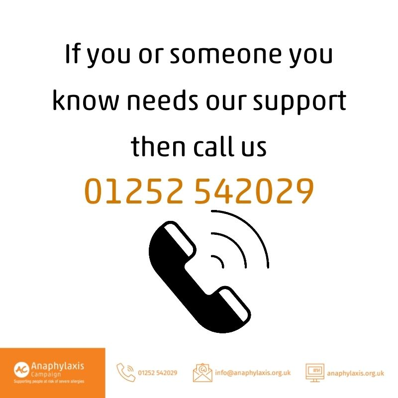 Our national helpline is available to help the allergic community on a variety of topics. Call: 01252 542029 or email: info@anaphylaxis.org.uk #hereforyou #allergyawareness #allergy #anaphylaxis