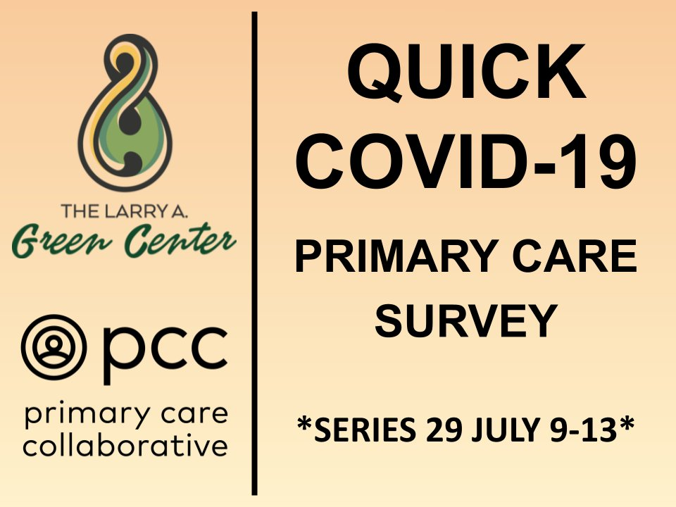 test Twitter Media - The Larry Green Center is back to conducting its COVID surveys of family physicians' experiences during COVID. It takes just a few minutes, but contributes to national research into the needs for primary care. Link here: https://t.co/BAbt8ndRXz https://t.co/KQV6HmPXSu