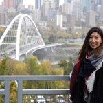 Image for the Tweet beginning: Graduate student Jasmine Maghera talks