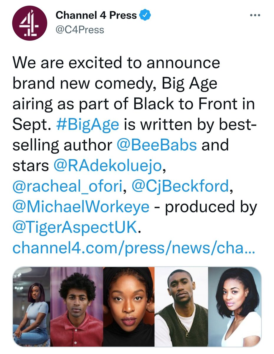 Years in the making in a practical way but also ways that aren't visible. Creator, writer & exec! To be able to breathe life into my dream like this is a blessing.❤ to my incredible producer @theamyannette & director @nosaferatu my GANG. My cast are supertars. Glory be to God! https://t.co/zaksRjXO6c