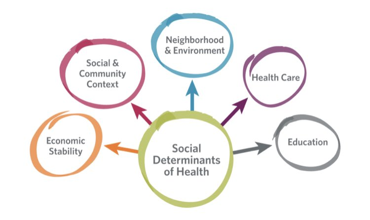What happens in a dental office or clinic is only one of many factors affecting someone's #oralhealth. Social determinants are a key yet overlooked factor. #sdoh #healthequity