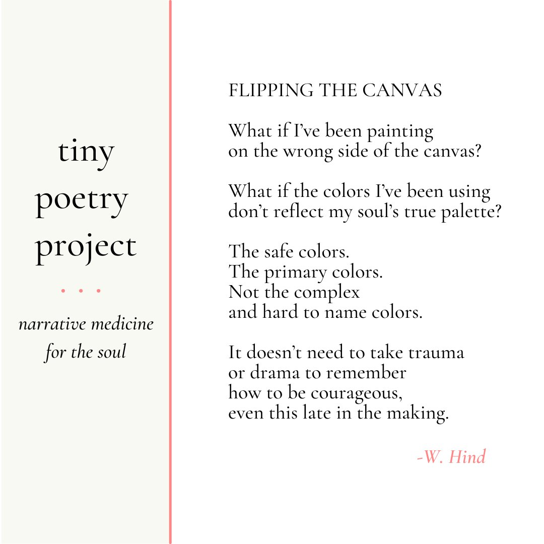 It's Tiny Poetry Project Weekend Edition. Maybe I'm questioning everything because I'm a woman in my 50's-maybe because we are still in a pandemic-maybe it's just because. #artinmedicine #medicalhumanities #painting #narrativemedicine  #medicalmoms #midlifecrisis #midlifewoman https://t.co/zDy6yGz0OC