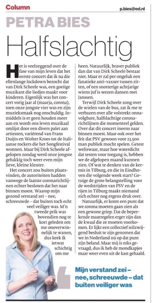 test Twitter Media - Petra Bies ziet het weer messcherp | Column 'Halfslachtig' | @PetraBies | Eindhovens Dagblad | Vrijdag 23 juli 2021 | #corona #coronavaccinatie #coronabesmettingen #corona https://t.co/KJ7S6tIa0s
