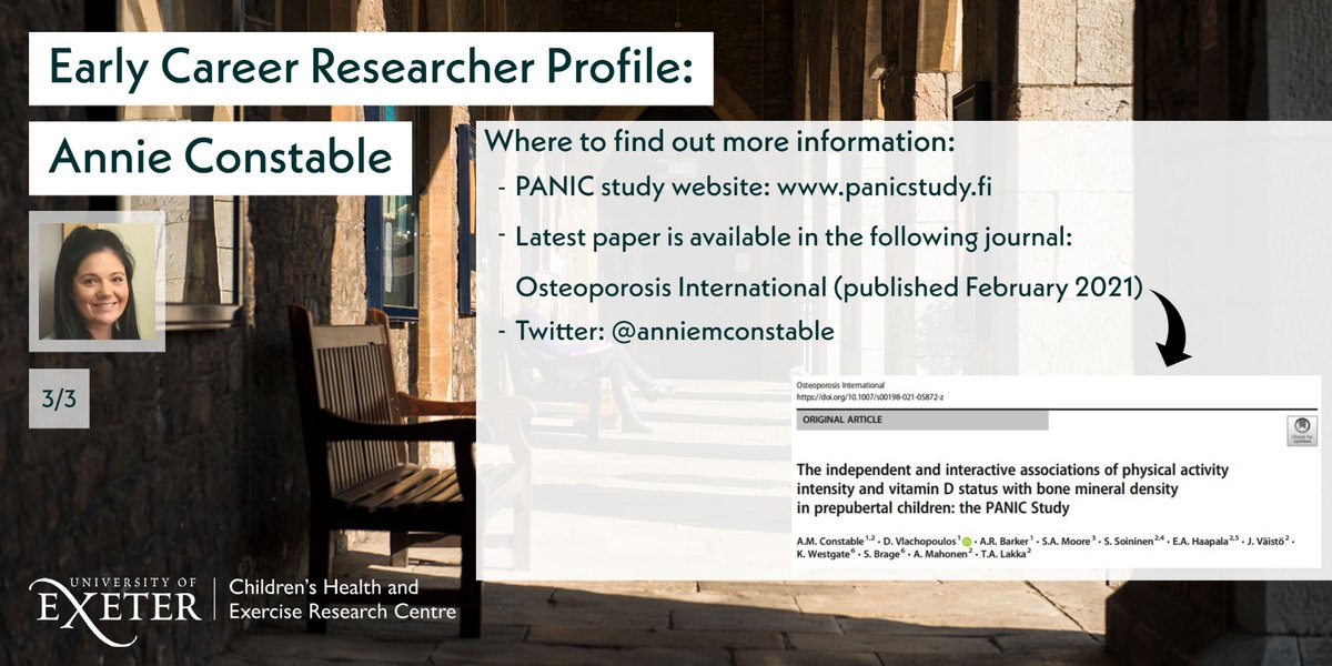 To learn more about Annie and her exciting work, make sure to follow her!➡️@anniemconstable  You can read more about the PANIC Study here➡️https://t.co/MTskj9Wbpi  Plus...Annie's latest paper is also available online!➡️https://t.co/HU9mxyjSOQ  Amazing work, Annie! https://t.co/EfZZS3hhCs