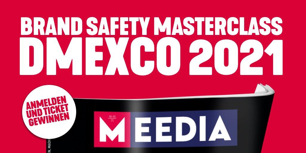 """Sichere dir mit @meedia eines von 10 Tickets für die #DMEXCO21 im Wert 99,- Euro und sei bei der #MEEDIA Masterclass """"Brand Safety – Der Interessenkonflikt zwischen Markenbild und Reichweite"""" dabei.   Ein Must-Go für Markenverantwortliche!  ⇨ https://t.co/kik3jwOmcE - Werbung https://t.co/w1I1xQkaYY"""
