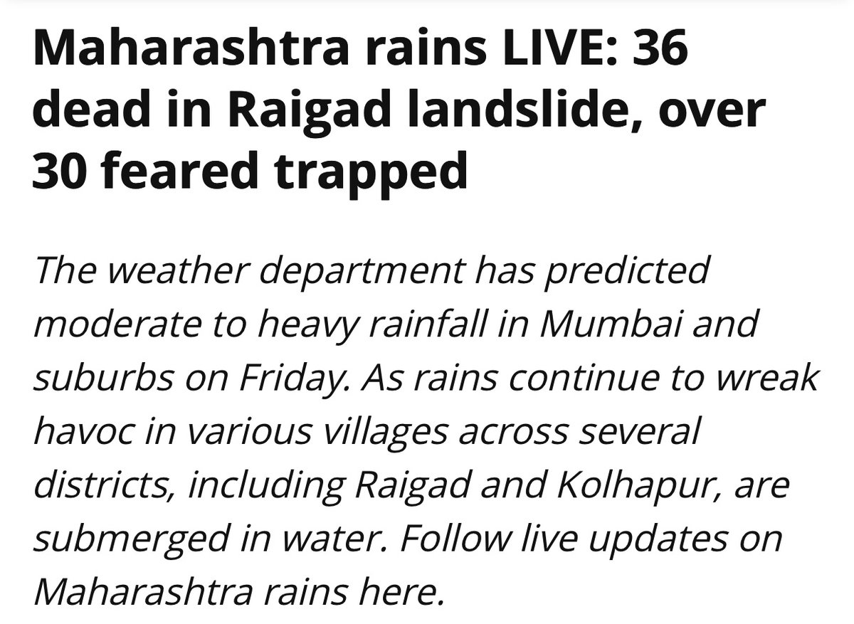 My heartfelt condolences to the bereaved families.  I appeal to Congress workers to assist in relief and rescue work.   Rains continue to cause disaster and disruptions in many parts of Maharashtra. Please stay safe. https://t.co/0su6PjwkiM