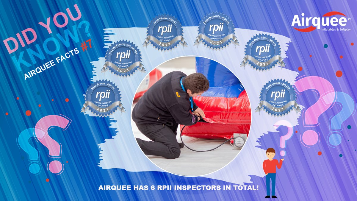 DID YOU KNOW❓ Airquee Facts #7 👉Airquee has 6️⃣ RPII inspectors in total! #airquee #Facts #howwedo #findout #askmehow #products #inflatables