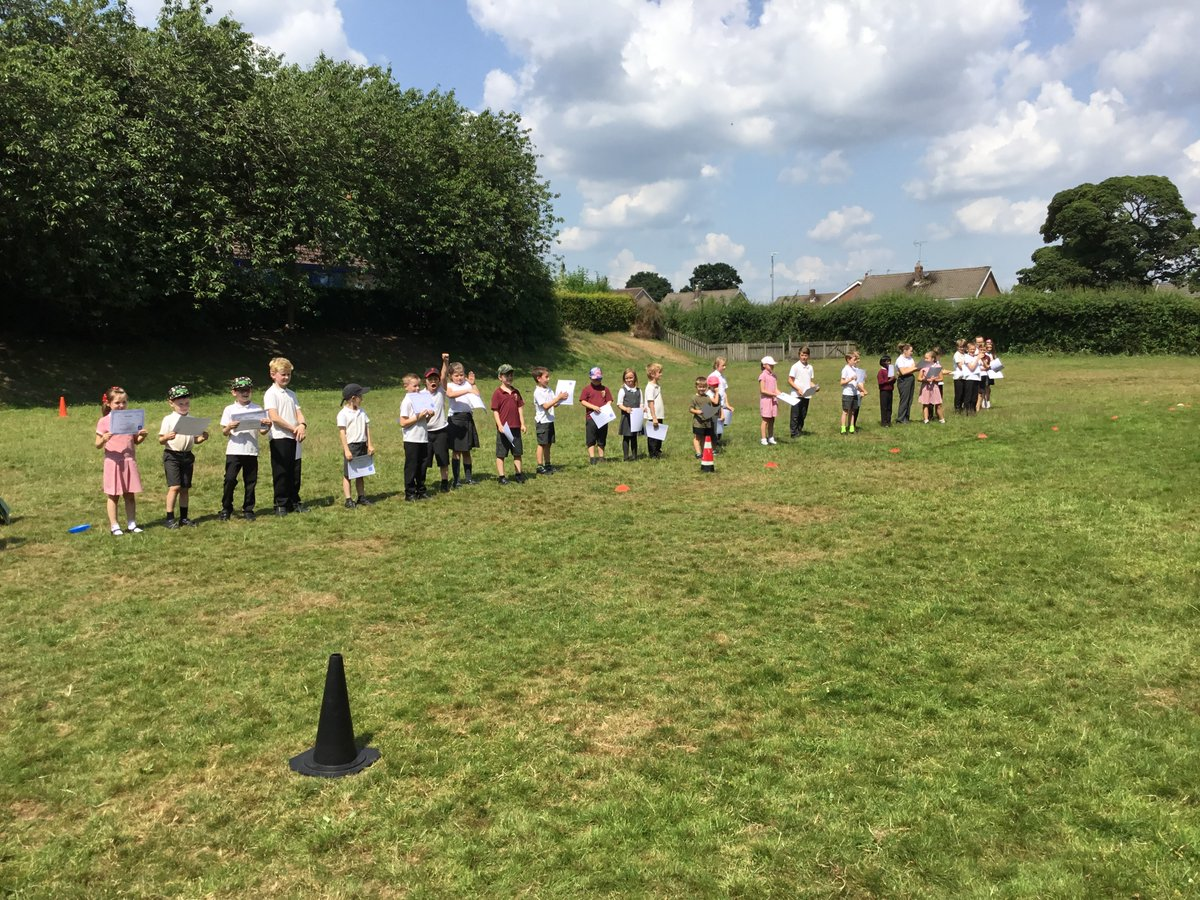 Outdoors assembly to celebrate 100% Attendance Winners and TASP Summer Sizzler Award winners. Well done everyone! 🐝🌟😎
