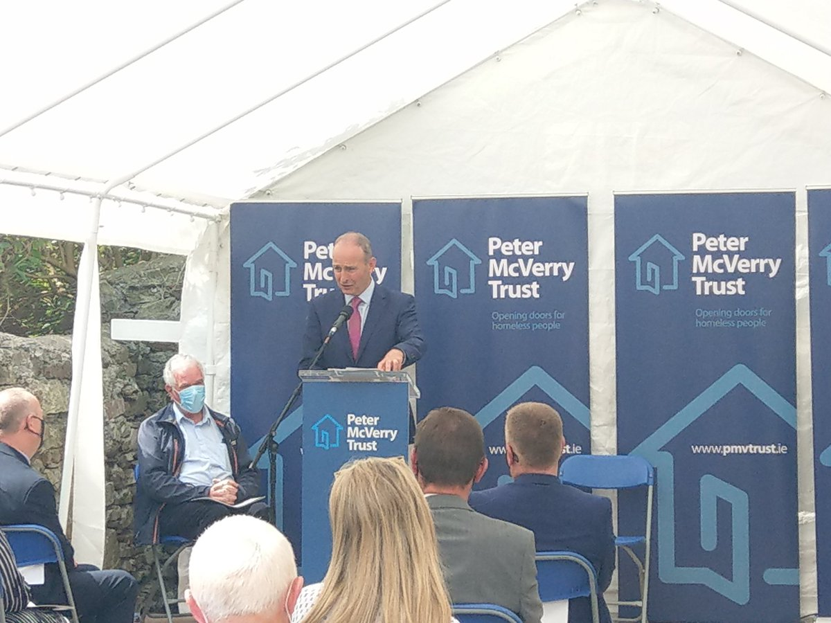 """The Taoiseach recognising Peter McVerry Trust as the """"number one provider of Housing First"""" in Ireland and stating Governments strong intention to deliver substantive progress under Housing for All. https://t.co/GhybkZRpbX"""